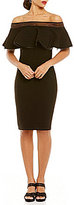Tadashi Shoji Petite Ruffle Off-the-Shoulder Sheath Dress