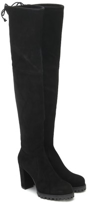 Stuart Weitzman Zoella 95 suede over-the-knee boots