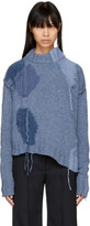 Acne Studios Blue Ovira Patch Sweater