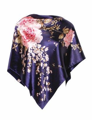 Bestgift Women Patterned Windproof Square Travel Scarves Red One Size