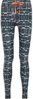 The Upside Printed Stretch-jersey Leggings - Black