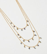 LOFT Triple Layer Dangling Crystal Necklace