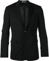Christian Dior ribbed detail casual blazer - men - Cupro/Virgin Wool - 48
