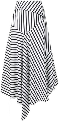 Marques Almeida Striped Midi Skirt