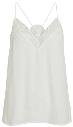 Dorothy Perkins Womens Vila White Lace Camisole Top, White