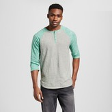 Mossimo Men's 3/4 Raglan Sleeve Baseball Henley Green