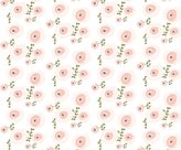 Fox Fabric - Pale Watercolor Floral - Peach, Blush