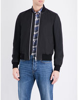 Ps By Paul Smith Matte Leather Bomber Jacket