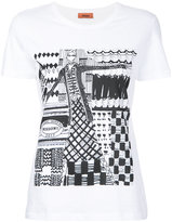 Missoni sketch print T-shirt - women - Cotton - S