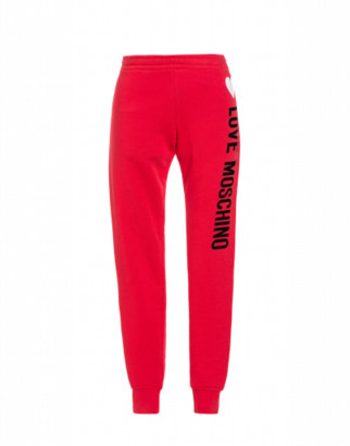 Love Moschino Fleece Jogging With Logo Woman Red Size 38 It - (4 Us)