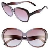 Victoria Beckham Women's Happy 60Mm Butterfly Sunglasses - Amber Tortoise