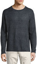 Vince Raw-Edge Linen Crewneck Sweater