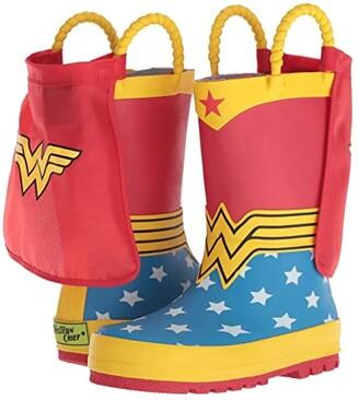 Western Chief Wonder Woman Rain Boot (Toddler/Little Kid/Big Kid) (Red) Girls Shoes