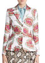 Altuzarra Fenice Floral-Print Blazer
