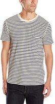 7 For All Mankind Men's Stripe Ringer Short Sleeve Pocket T-Shirt