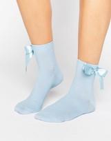 Asos Oversized Bow Ankle Socks
