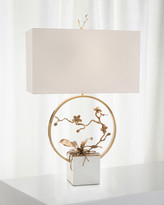 John-Richard Collection John Richard Collection Antiqued Brass Orchid Table Lamp