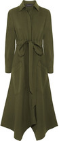 Cédric Charlier Piqué Shirt Dress - Army green