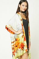 Forever 21 FOREVER 21+ Watercolor Print Cardigan