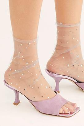 Free People Starry Night Sheer Slouch Socks by High Heel Jungle at