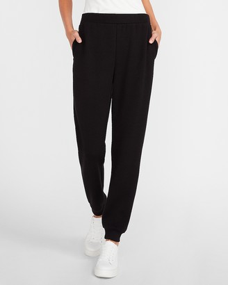 Express High Waisted Heavyweight Stretch Knit Jogger Pant