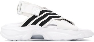 adidas Magmur stripe detail sandals