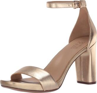 Naturalizer Womens Joy Dark Gold Heeled Sandals 10 W