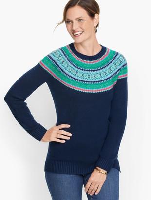 Talbots Beaded Fair Isle Sweater