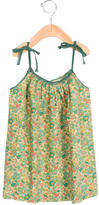 Bonpoint Girls' Floral Print Tie-Accented Dress