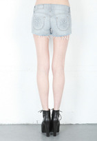 Siwy Denim Madeline Cut Off Shorts with Exposed Pockets in Misplaced