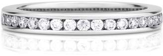 De Beers Platinum Half Channel Set Diamond Eternity Band