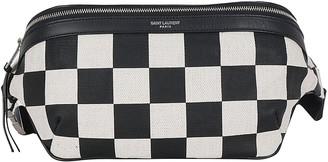 Saint Laurent Check Print Belt Bag