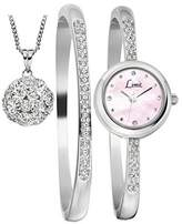 Limit Women's Quartz Watch with White Dial Analogue Display and Silver Bangle 6016G.55