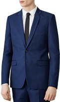 Sandro Notch Cotton Slim Fit Suit Jacket