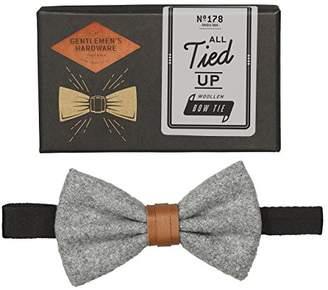 Gentlemen's Hardware Men's Bow Tie, Grey)