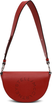 Stella McCartney Red Alter Nappa Marlee Logo Bag