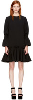 Edit Black Ruffled Hem Dress