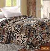 Plazatex MicroPlush Printed Blanket Safari