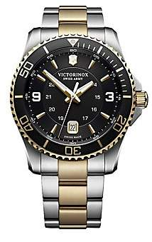Victorinox Men's Maverick Stainless Steel Analog Bracelet Watch