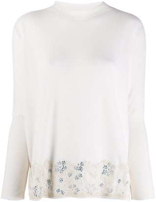Blumarine Embroidered Fine Knit