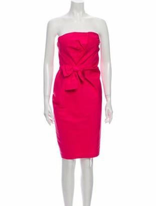 Prabal Gurung Strapless Mini Dress Pink
