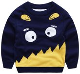 Anbaby Little Boys Children's Double-deck Cartoon Monster Pullover Sweaters 100cm