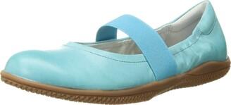 SoftWalk Women's High Point Ocean Blue Soft Dull Leather Flat 7 S (AAA)