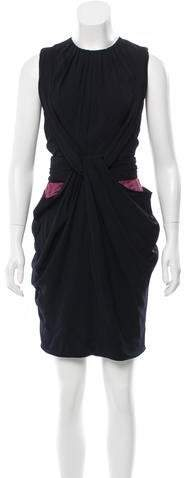 Vionnet Draped Sleeveless Dress