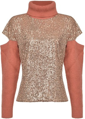 Pinko Sequin Cut Out Jumper