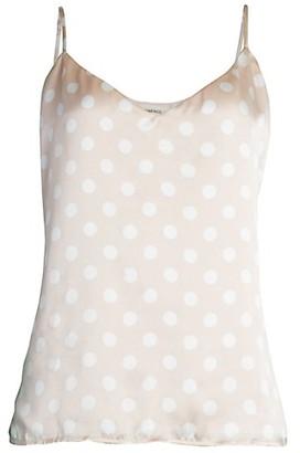 L'Agence Polka Dot Silk Camisole