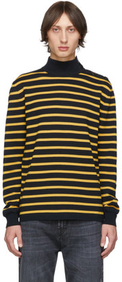 Stella McCartney Black and Yellow Striped Breton Turtleneck