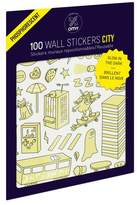 OMY Set of 100 City Glow in the Dark Wall Stickers