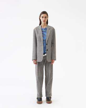 3.1 Phillip Lim Oversized Wool Checked Blazer