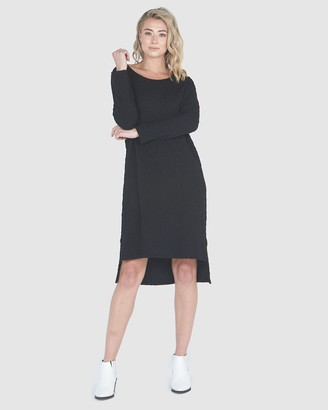Privilege Midi Jacquard Dress